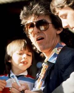 George Harrison with son Dhani on October 3, 1985 Read ...