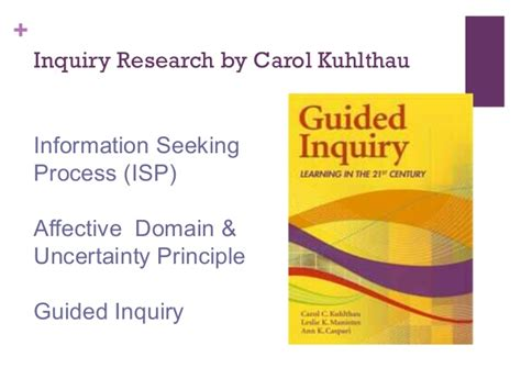 Guided Inquiry  An Instructional Framework For Designing