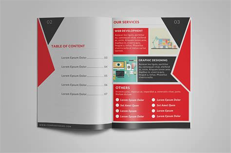 4 Page Brochure Template Free Best Clean Corporate Tri 8 Page Corporate Bifold Brochure Brochure Templates On