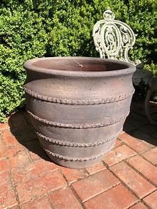 Lovely, Large, Handmade, Terracotta, Pots