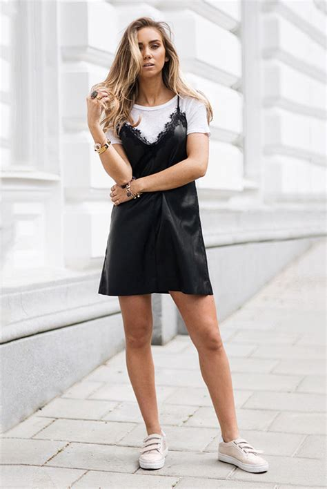 How To Wear The Slip Dress Over T-shirt Trend | Be Daze Live