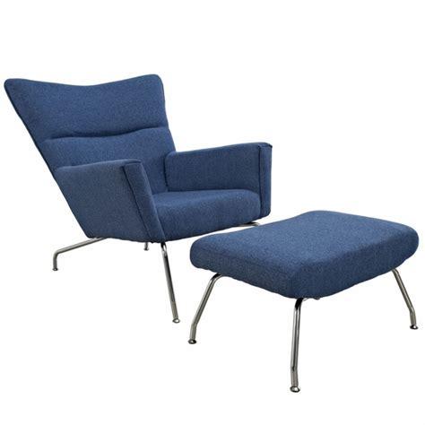 hans wegner wing chair ottoman lounge chair modern in