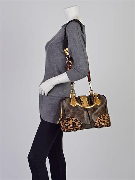 louis vuitton limited edition monogram leopard adele bag yoogis closet