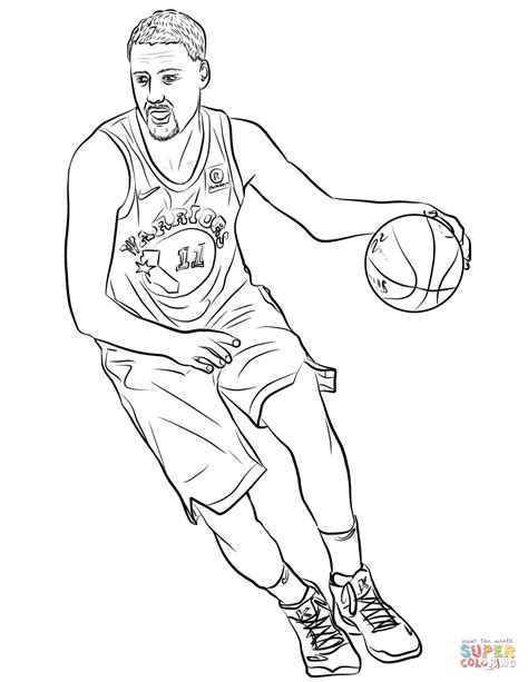 klay thompson coloring page  printable coloring pages