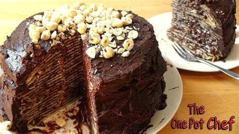 one pot chef nutella cheesecake you ll put on weight just looking at my no bake chocolate nutella crepe cake but it s worth it