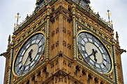 Big Ben Close Up at Palace of Westminster in London ...