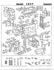 Complete Sewing Machine Page 2 Diagram  U0026 Parts List For
