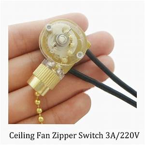 Aliexpress buy lamp zipper switch ceiling fan