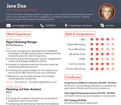 what resume looks like 7 pictures of what a cv should be like address example