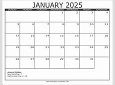 2025 Calendar Style 3 Free Printable Calendars