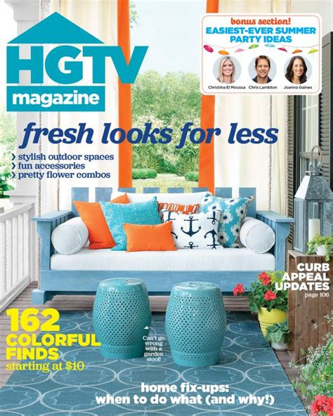 home decorating magazines free hgtv magazine july august 2015 hgtv