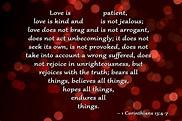 Devotions...: 1 Corinthians 13 4-7