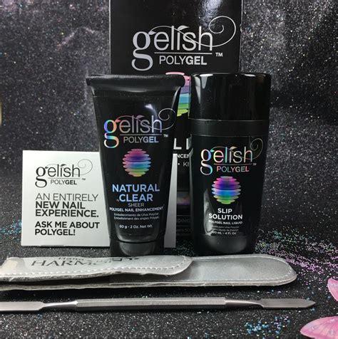 gelish polygel trial kit natural clear slip solution  gel