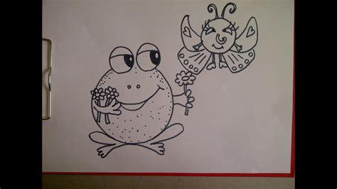 zeichnen ideen anfänger zeichnen f 252 r kinder frosch schmetterling aus einem kreis verschiedene tiere zeichnen