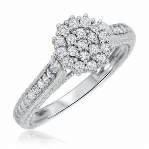 3 4 carat diamond bridal wedding ring set 14k white gold for 4 carat wedding ring set