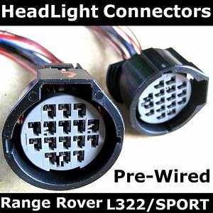 Pair Of Late Range Rover L322 Headlight Connectors