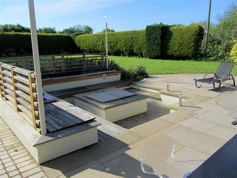 landscape seating garden for outdoor entertainment in gloucestershire