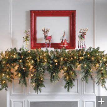 mantle garland with lights 6 39 cascading christmas garland garlands fall mesh