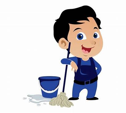 Cleaning Clean Clipart Office Clip Cartoon Animated