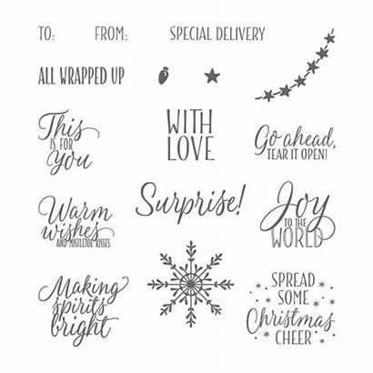 Tags Stamp Stampin Photopolymer Tin Winter Holiday