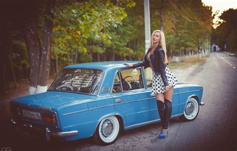 wallpaper machine girl auto classic lada auto lada