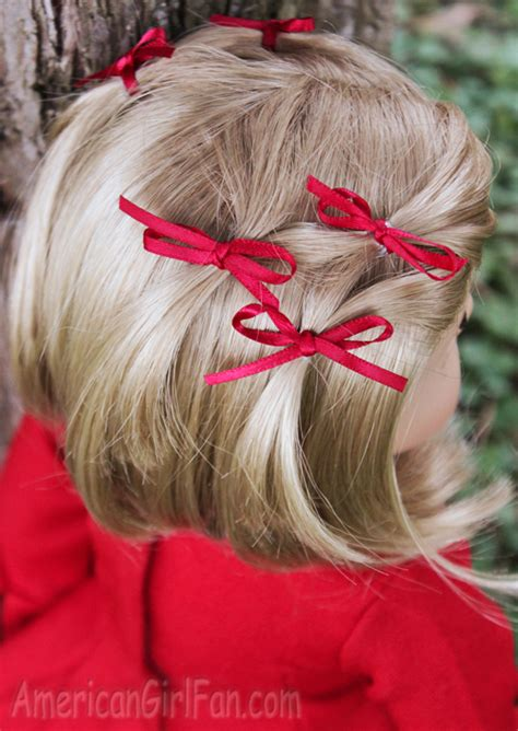 doll hairstyle bitty bow ponytail veil americangirlfan