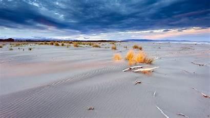 Sand Waves Storm Ocean Sea Sky Clouds