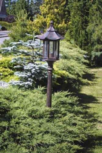 Asien Style Garten Stehleuchte Pagodendach Echtglas Zen