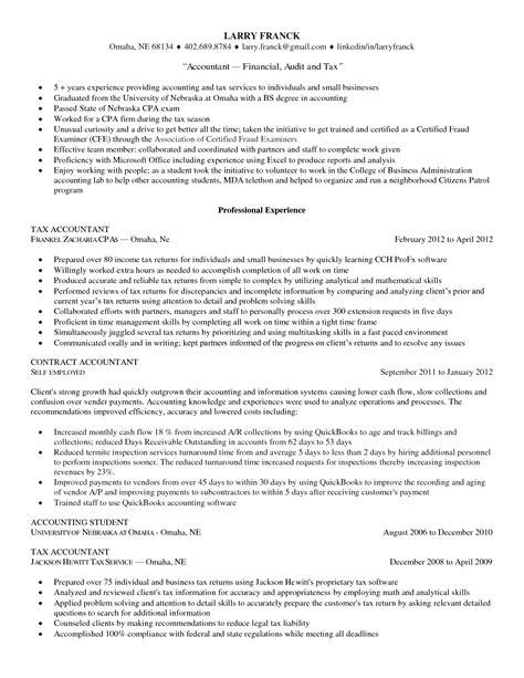 sle resume accountant 28 images 28 sle accounting sle resume of professional accountant professional