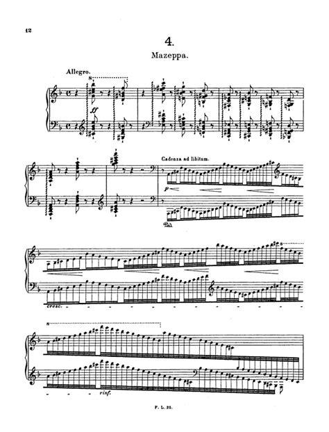 s 139 etude no 4 mazeppa free sheet music by liszt