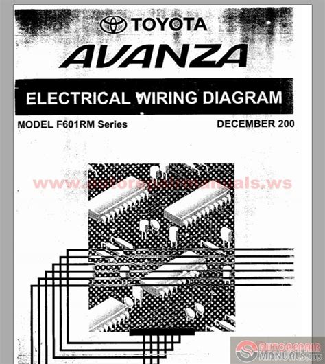 Toyota Avanza Frm Series Electrical Wiring Diagram