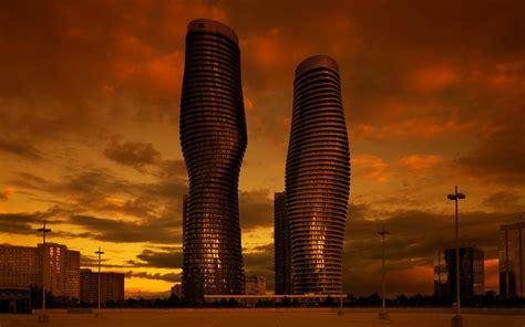architecture cityscape city skyscraper clouds modern