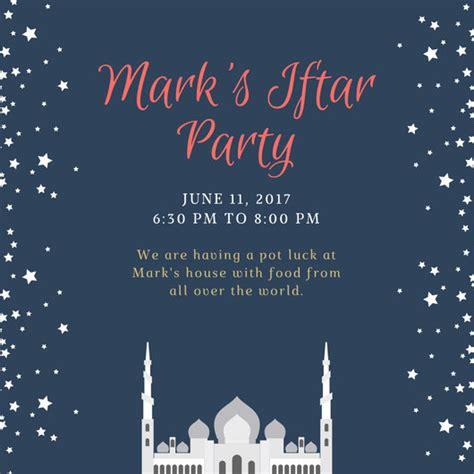 customize  ramadan invitation templates  canva
