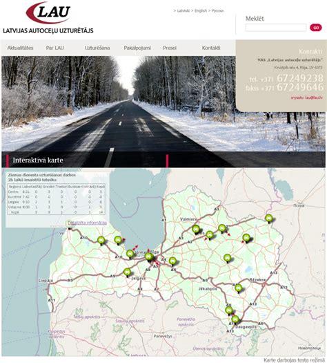 Interaktīvā kartē var redzēt, kur strādā LAU automašīnas