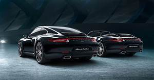 Object of desire. The new Porsche Black Edition models.