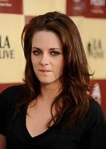 Kristen Stewarts Hair Red Brown Auburn Hair Long