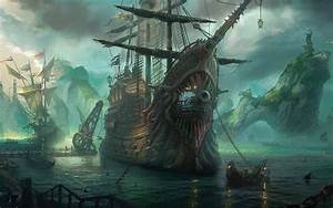 Online Buy Wholesale pirate ship painting from China