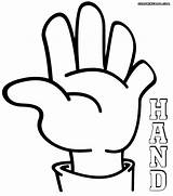 Coloring Hand Pages Hands Printable Colouring Adult Colors Peoples Clipartmag sketch template
