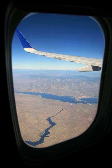 Airplane Window View Stock Image Image Of High Salt