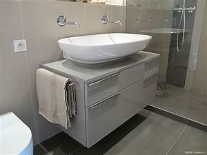 carrelage grand format salle de bain inside creation With salle de bain design avec lavabo petit format