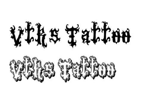 tattoo fonts  body art