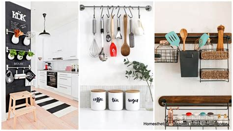 emphasize small spaces  kitchen wall storage ideas