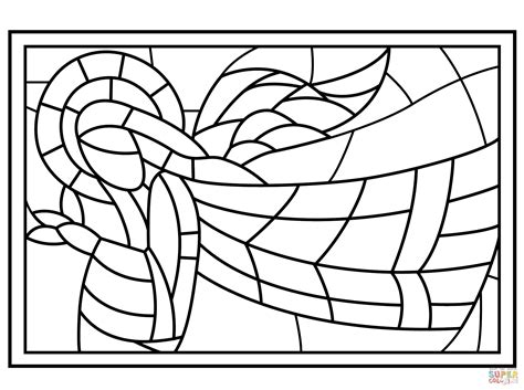 Stained Glass Window Coloring Page Coloring Page