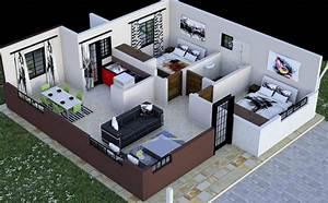 2, Bedroom, House, Plan, In, Kenya, With, Floor, Plans, Amazing, Design