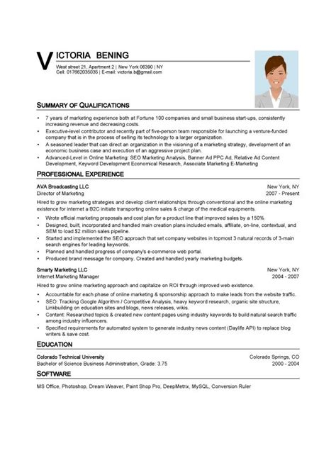 Technical Resume Format In Word by ต วอย างการเข ยนประว ต ส วนต ว Janthai