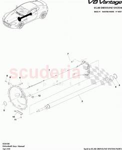 Aston Martin 6g33-4602-ab  Driveshaft Assembly- Manual