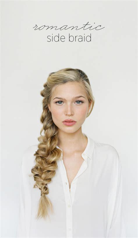 Romantic Side Braid Hair Tutorial Wedding Hairstyles For