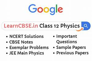 Ncert Solutions For Class 12 Physics  Updated For 2019