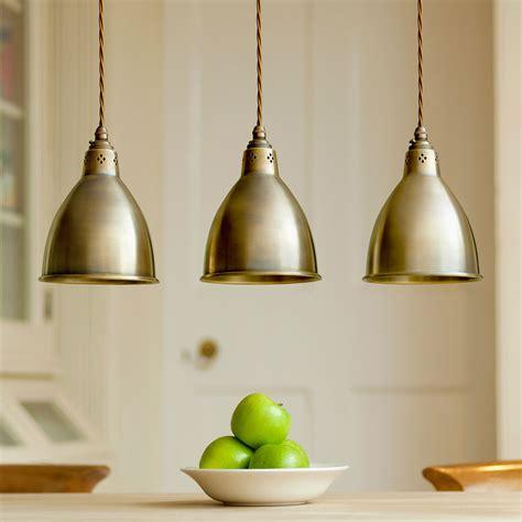Pendant Lighting  Barbican Stylish Brass Pendant Light