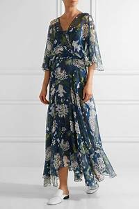 adam lippes floral print silk chiffon maxi dress net a With robe vaporeuse